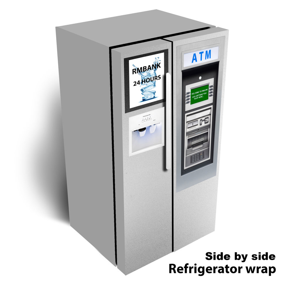 ATM Machine Side by Side Refrigerator Wrap