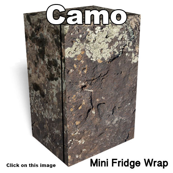 Camo Mini Fridge wraps