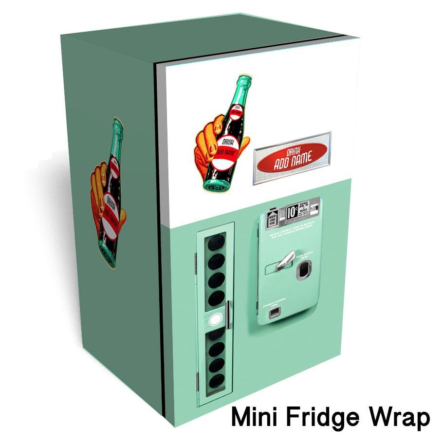 Mini Vending Machine >> Mint Vending Machine Mini Fridge Wrap Rm Wraps
