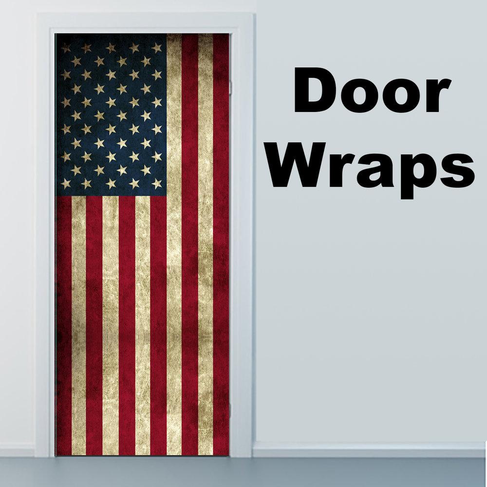 Worn USA Flag Door wrap