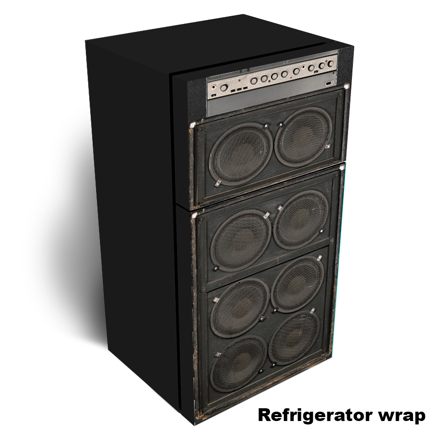 Amplifier speaker Refrigerator wrap