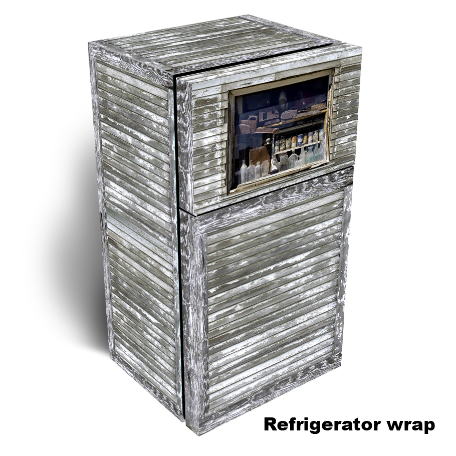 Time Passages Window Refrigerator Wrap 2