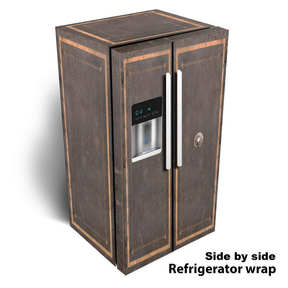 Vintage Safe Side by Side Refrigerator Wrap
