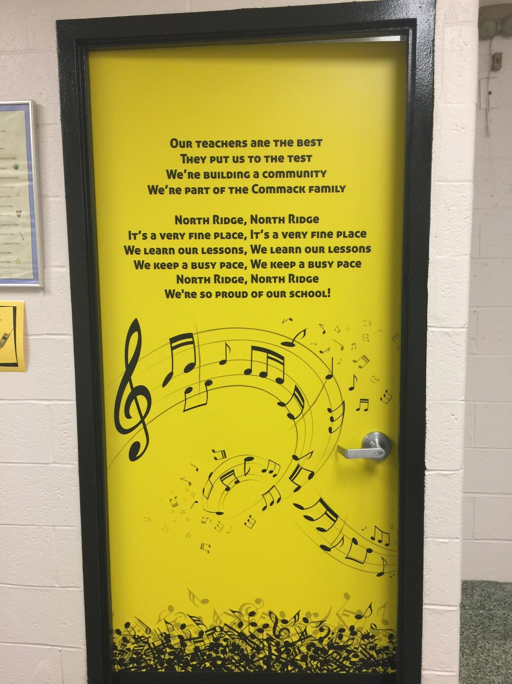 Music room Door wrap, School door wrap, School door cover