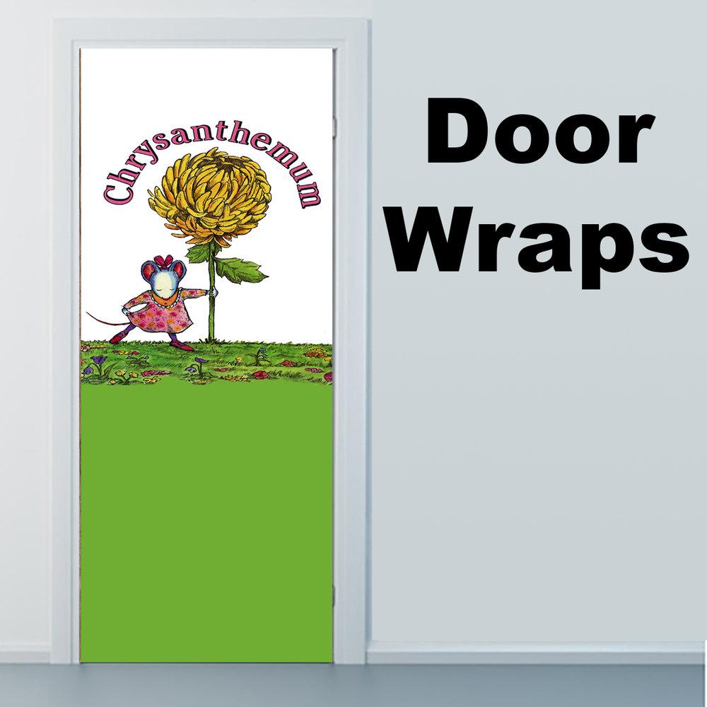 Chrysanthemum Book Cover Door Wrap