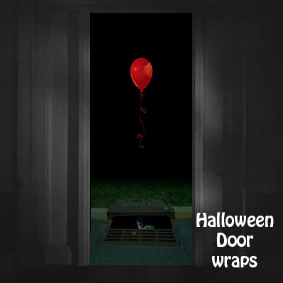Pennywise Red Balloon and Sewer Drain Door wrap