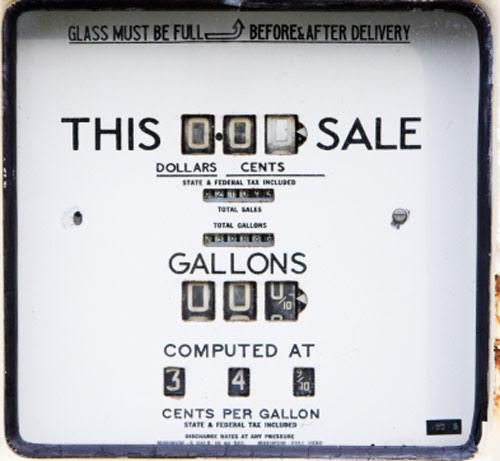 Vintage Gas pump Gauge, Wrap, Sticker gauge, This Sale, Gallons, Old gauge