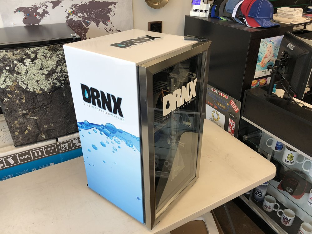Drnk Mini fridge wrap