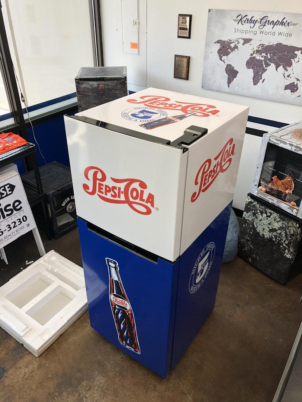Pepsi Fridge wrap