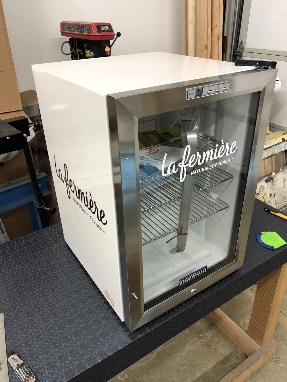 La Fermiere Mini Fridge wrap