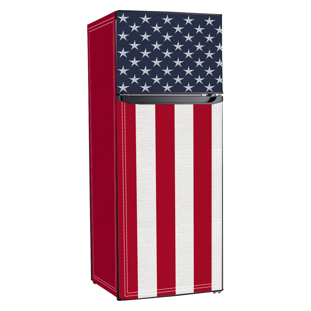 USA Flag, 10 cu ft fridge, fridge wrap, refrigerator wrap