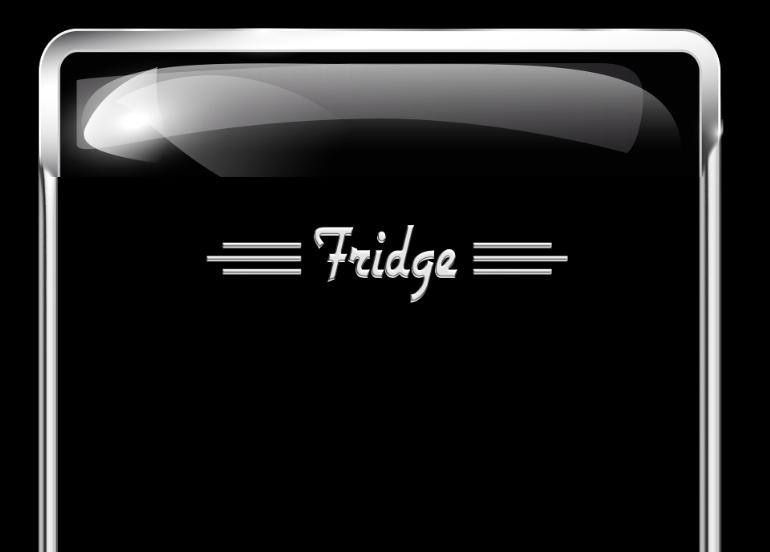 Vintage, 1950's, 10 cu. ft., Fridge Wraps, rm wraps, Black fridge, Old Style