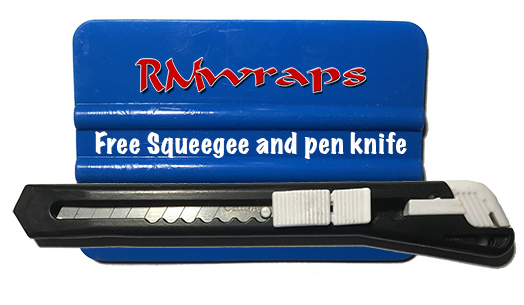 Free Squeegee and knife