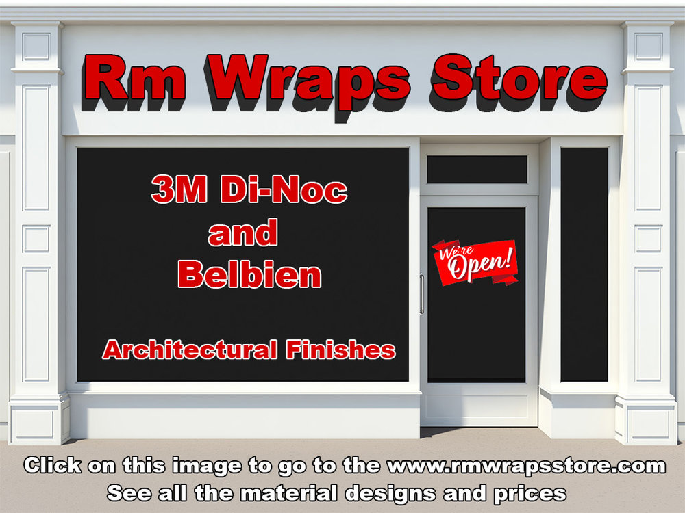 Rm wraps store, 3m Di-noc, Belbien, Architectural Finishes, decorative surface finishes