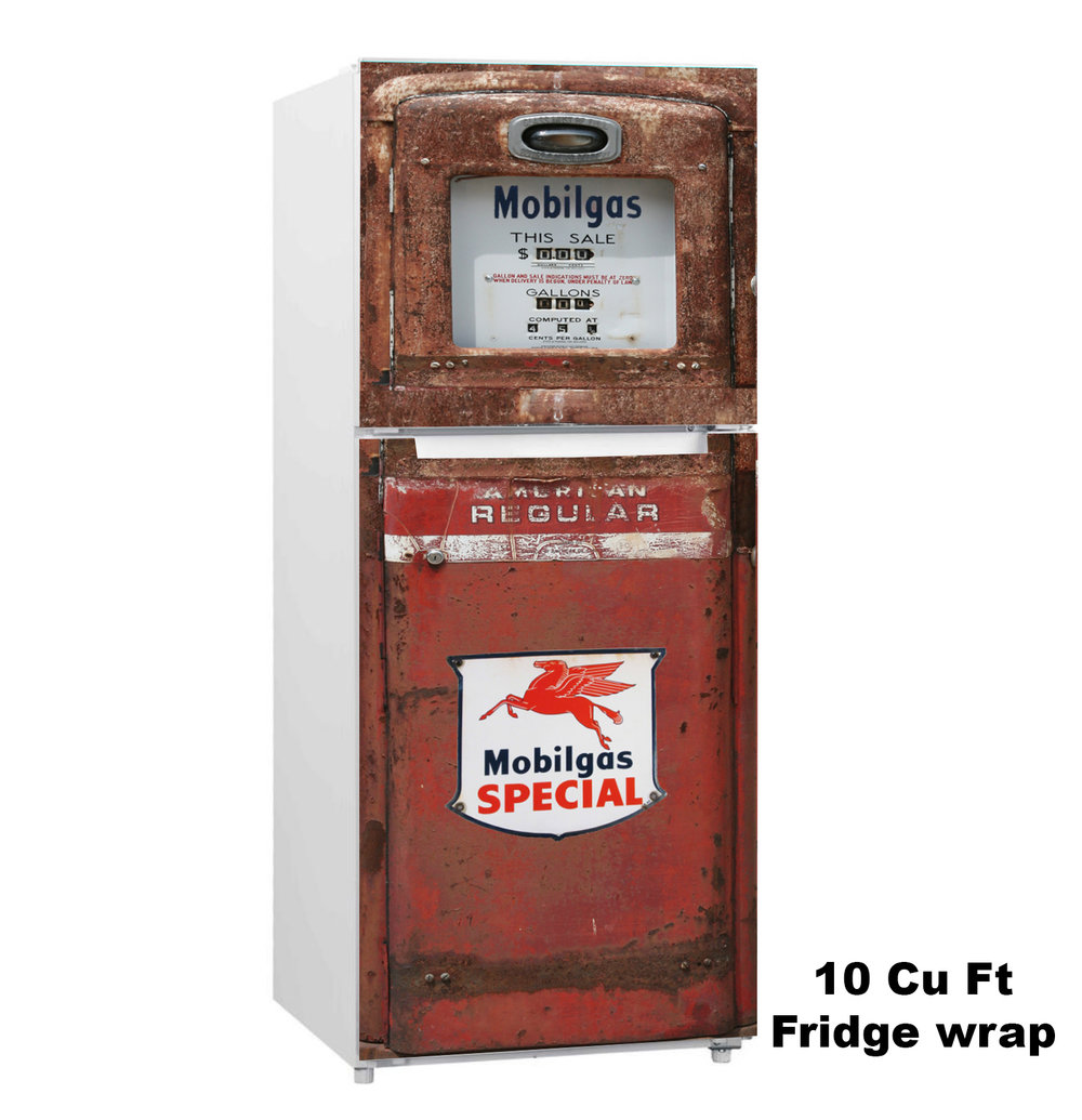 Mobilgas Pump 10 cu. ft. Fridge Wrap