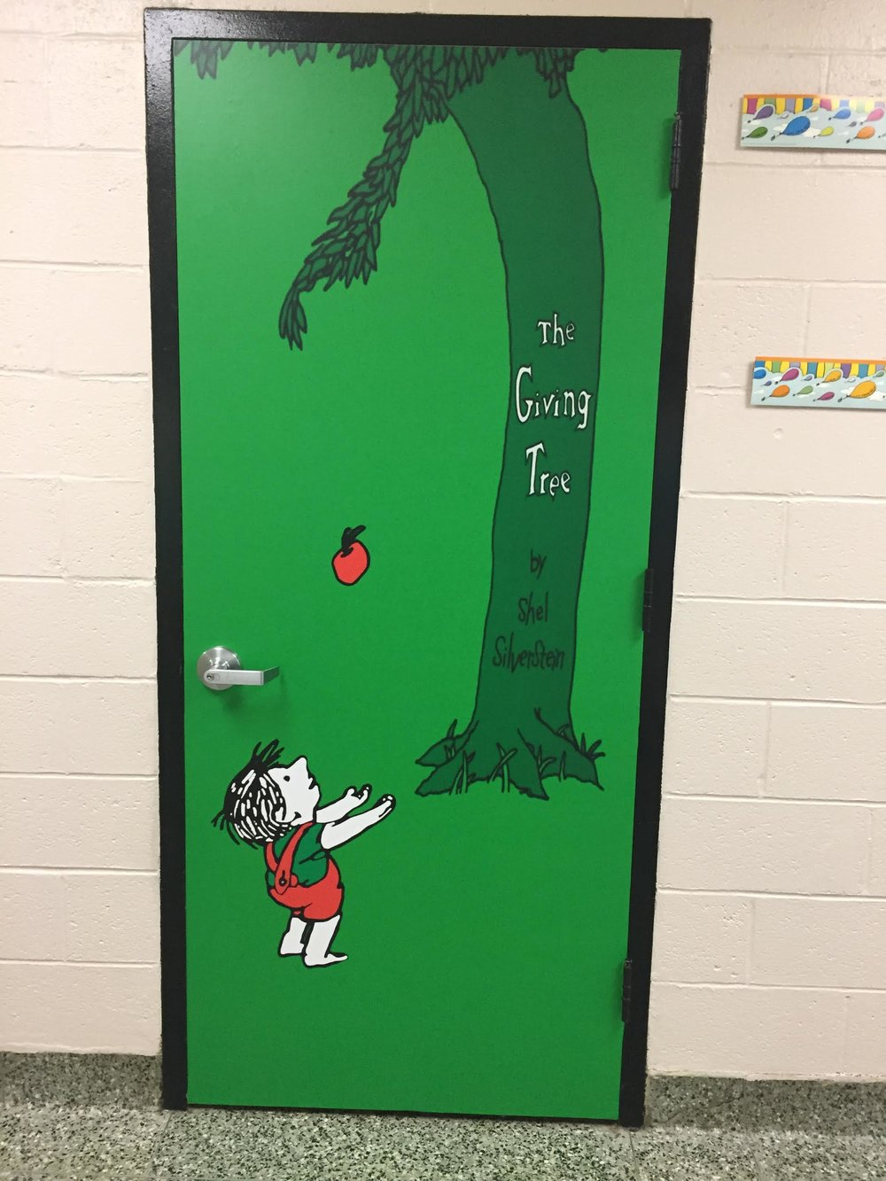 The giving tree, Door wrap, Rm wraps, School door idea