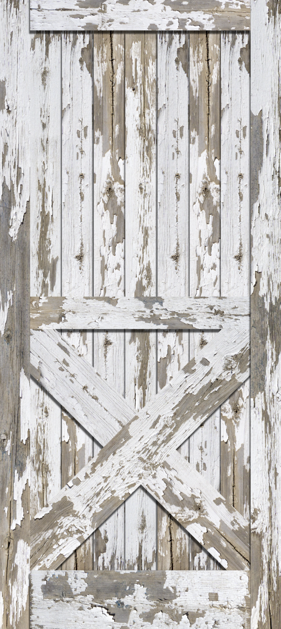 Weathered, White wood, Barn Door, Wrap, Rm wraps, Old paint, paint cracking