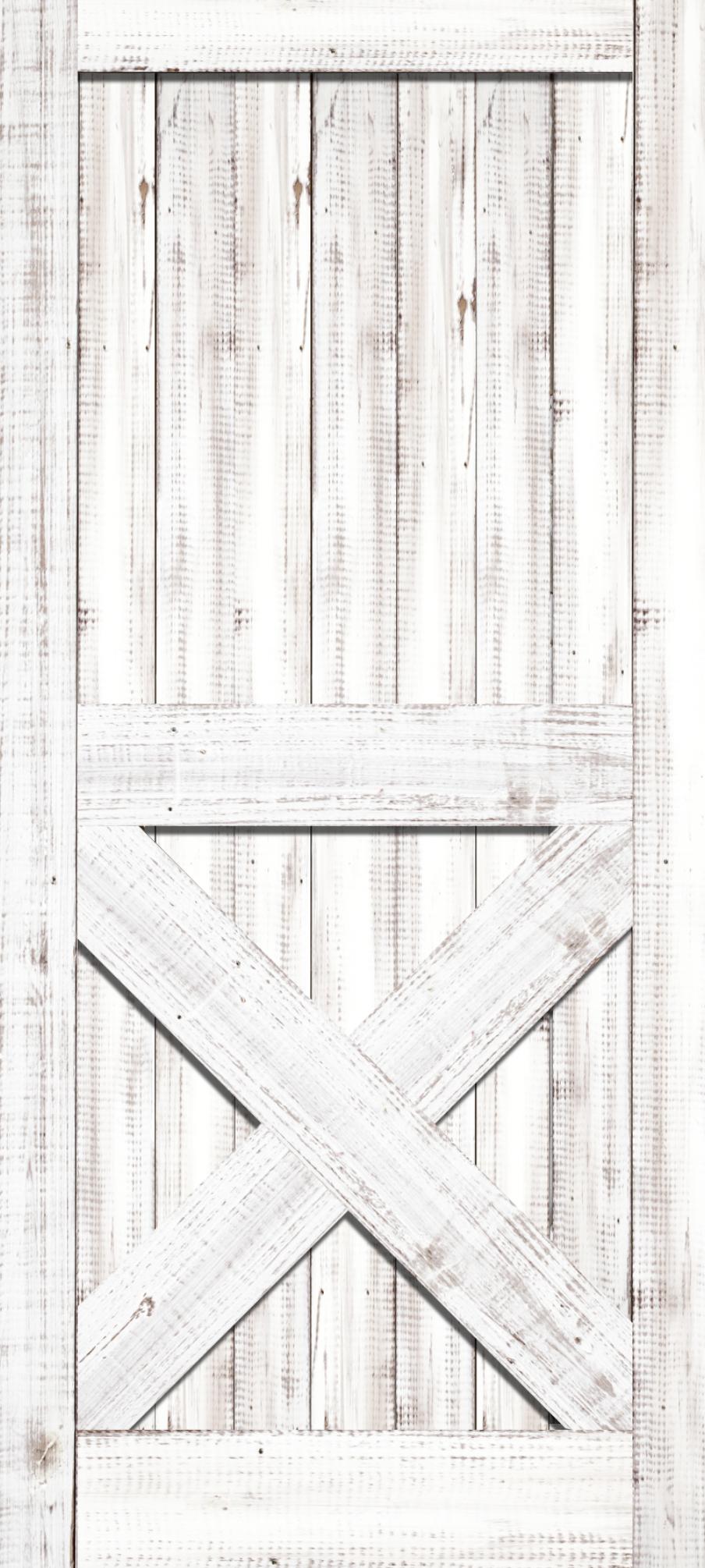 White, Barn, Door Wrap, Rm wraps, Barn door