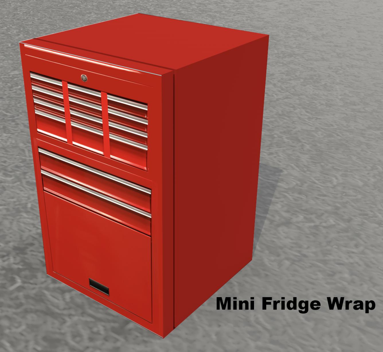 Tool Box Mini Fridge Skin