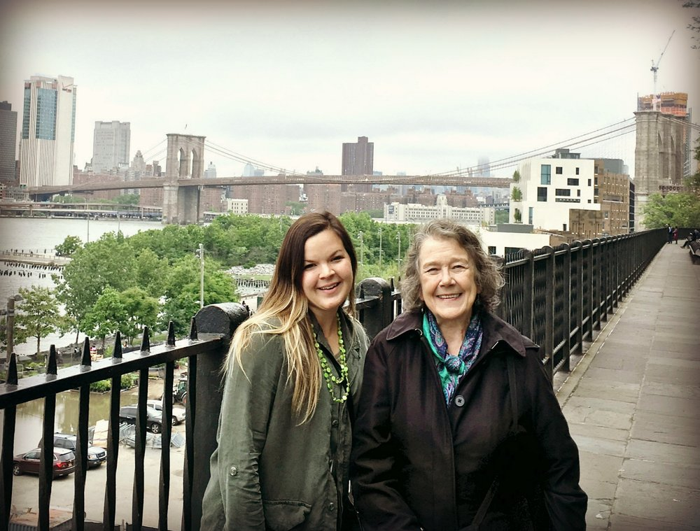 Daniela and me in front of the Brooklyn Bridge from the Brooklyn Heights Promenade