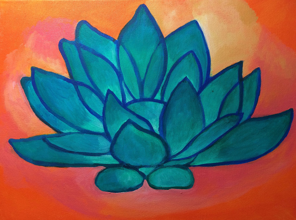 Vishuddha Chakra Turquoise Lotus