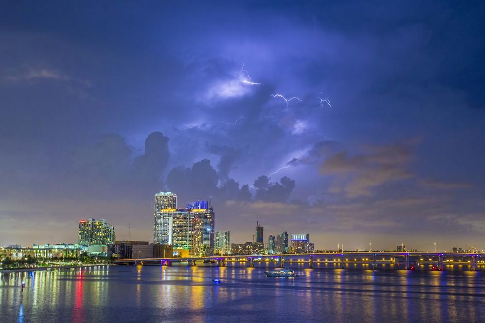 Lightning Over Miami