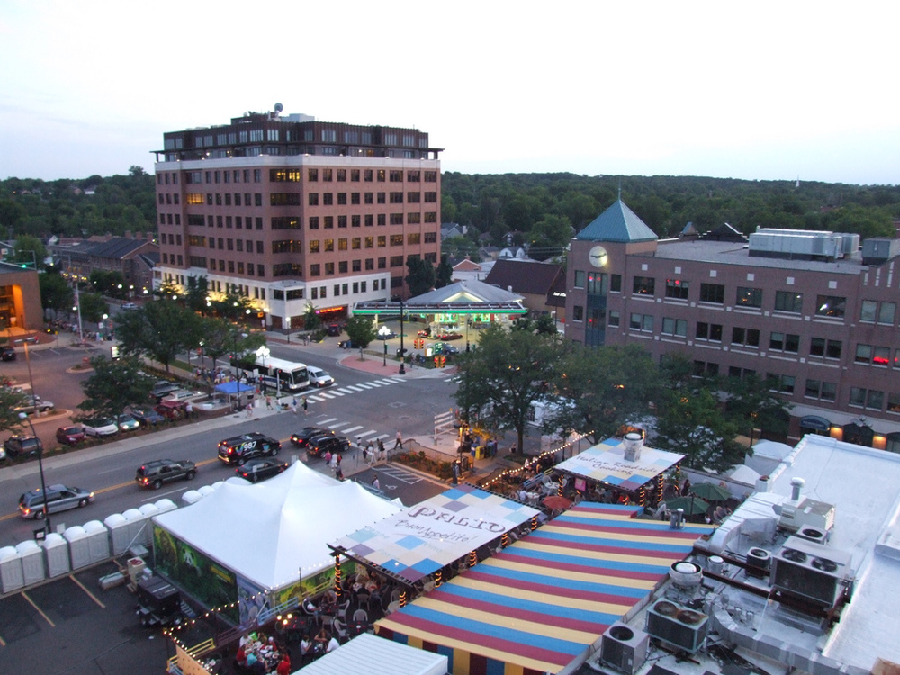Rooftop view of South Main Street in Ann Arbor