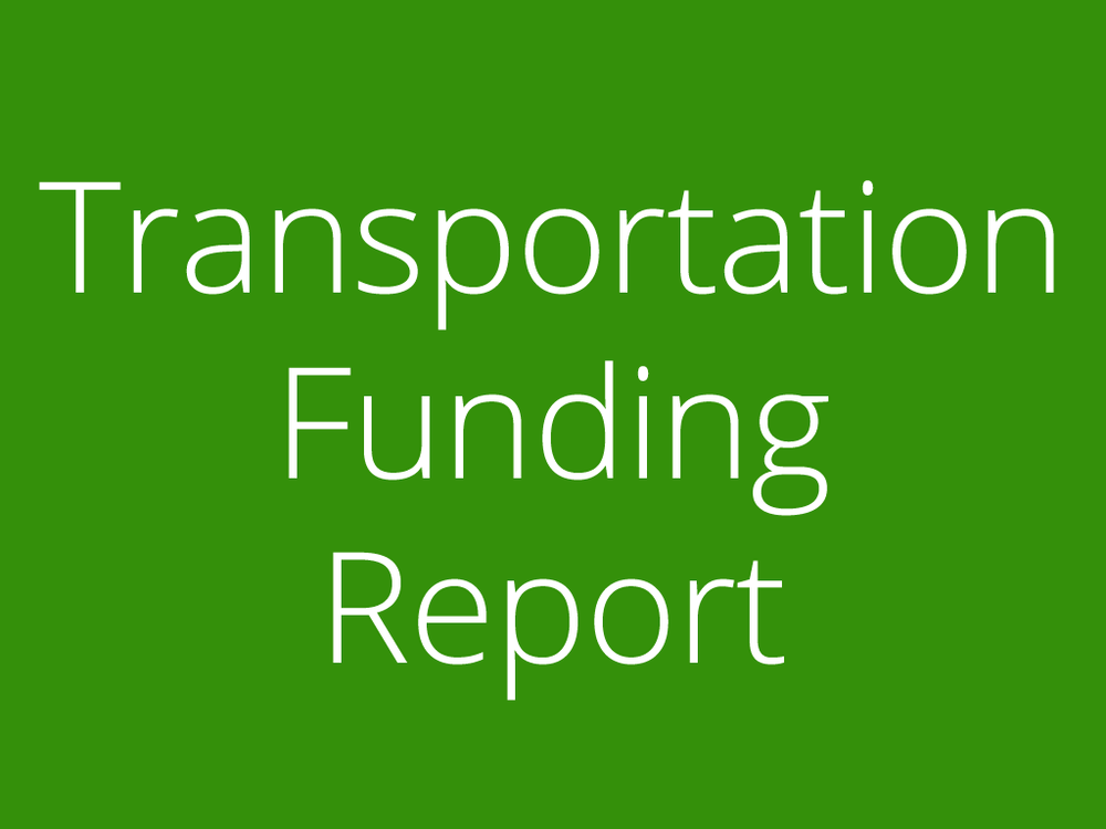 Transportation Funding report for washtenaw county