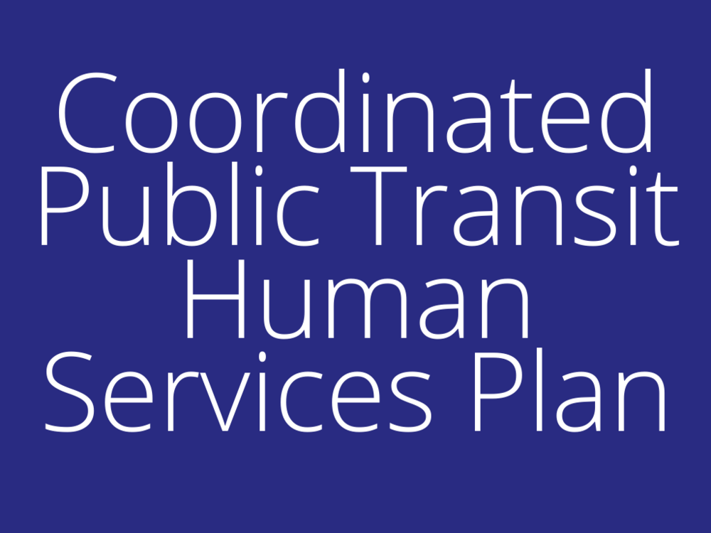 Coordinated PuBlic Transit Human Services Plan