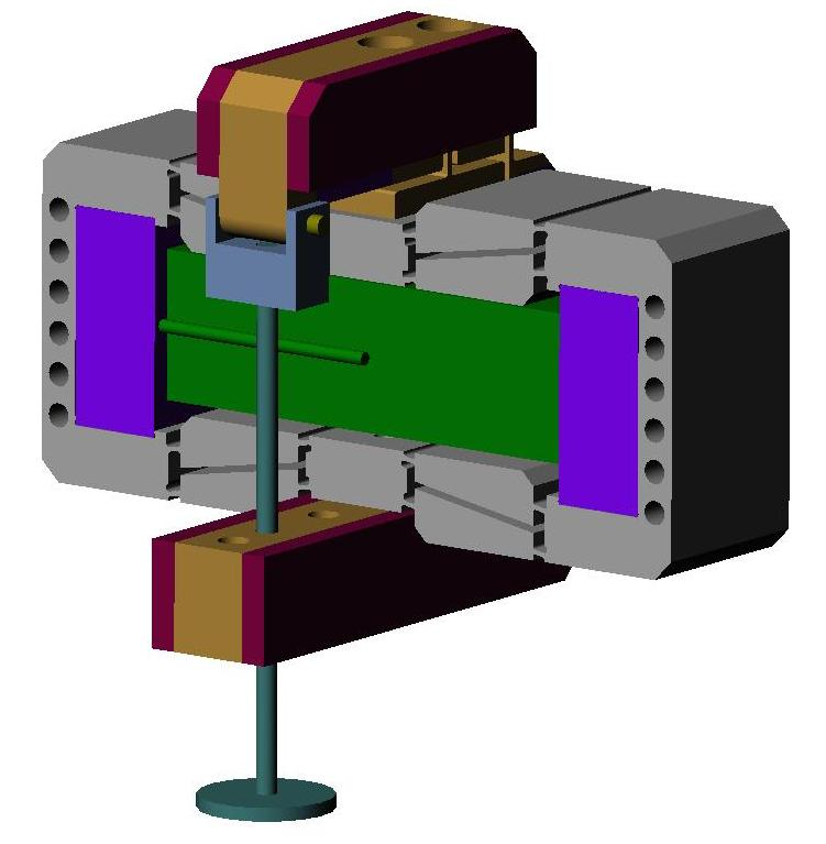 Model of possible piezo actuator valve integration