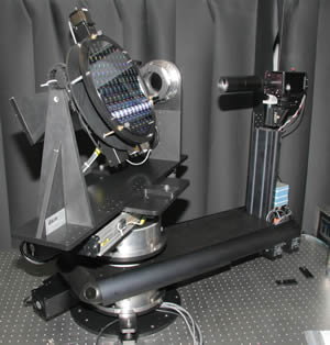 NIST goniometric instrument with wafer attached for inspection
