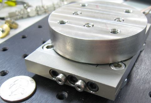 Cryogenic, Vauum rated rotary piezo motor developed by DSM
