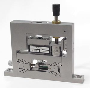 Nanopress, featuring a piezo actuator for a servo controlled NANO POSITIONING range of 30 microns