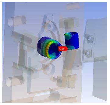 Example of DSM Analysis: ANSYS FEA of Bearing Subjected to High Acceleration Loading