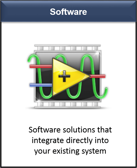 LabVIEW Software Solutions that integrate directly  into your existing system