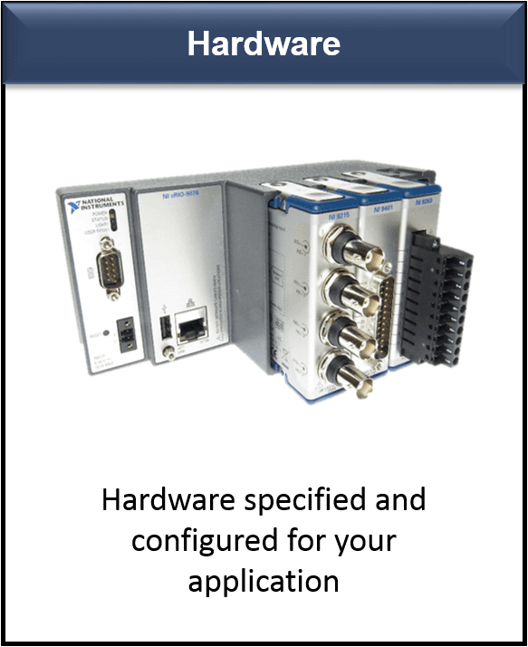 National Instruments DAQ based hardware configured for your application