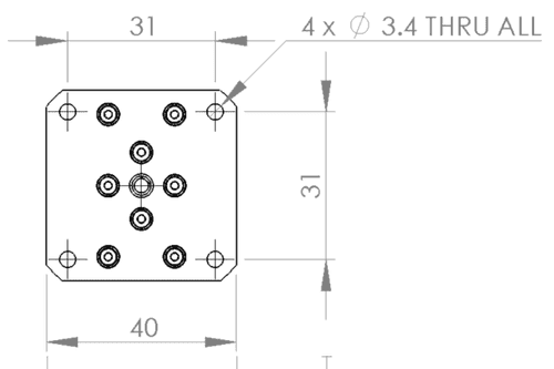 Dimensions of smart ultrasonic motor
