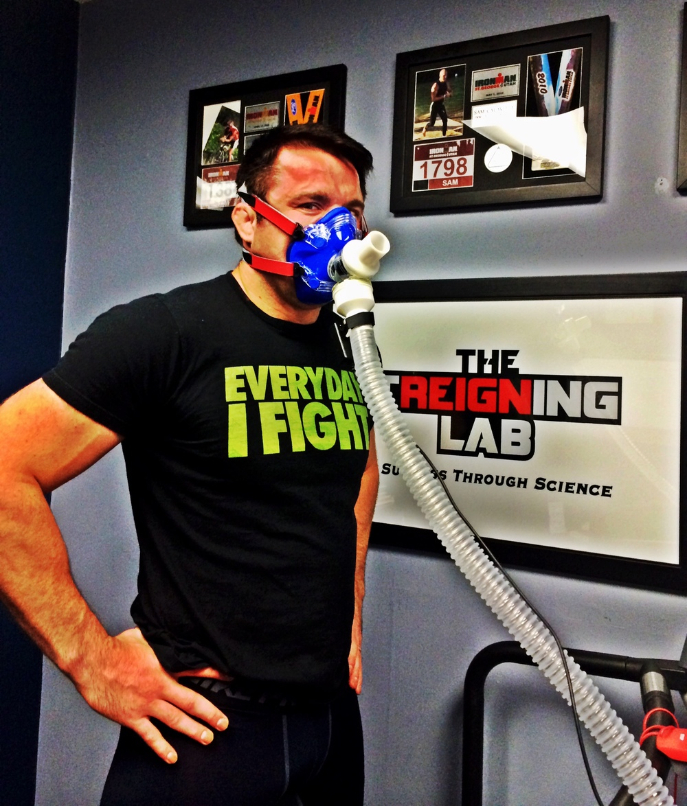 "Chael Sonnen gets the ""edge"" at the Treigning Lab Advanced Performance facility."