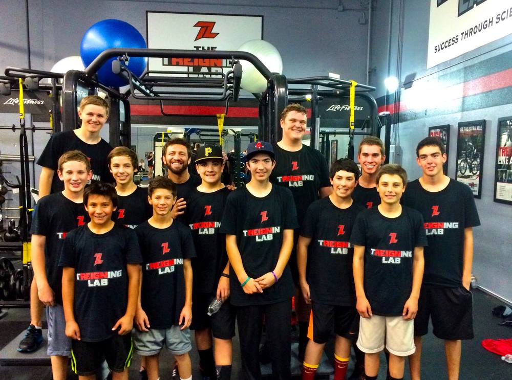 ASD baseball works out at the Treigning Lab!