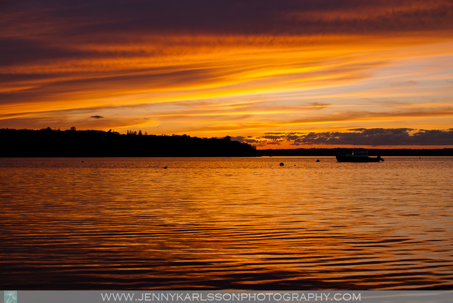 Maine sunset photography