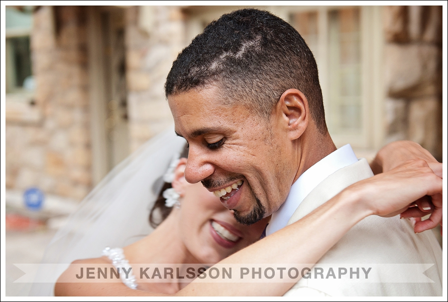 Happy Bride and Groom at Mansion at Maple Heights Pittsburgh Wedding