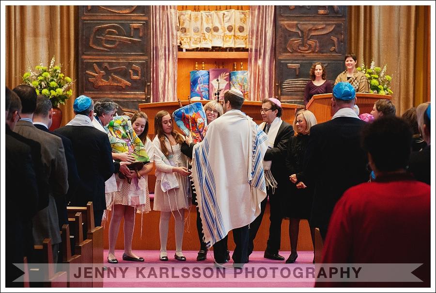 Passing of the Torah at Temple Sinai Bat Mitzvah