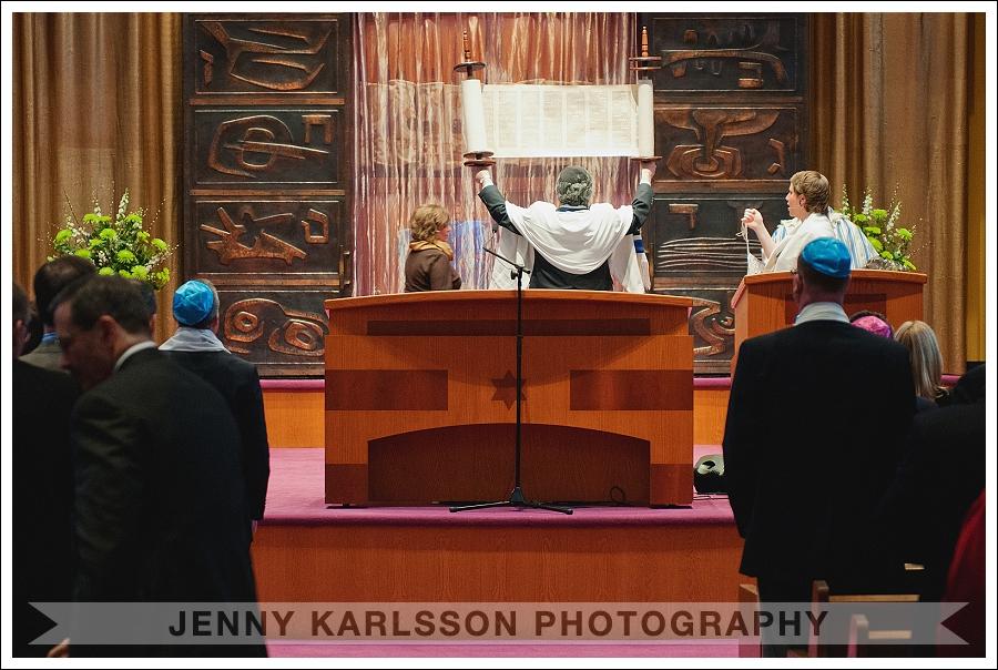 Holding the Torah at Temple Sinai Bat Mitzvah