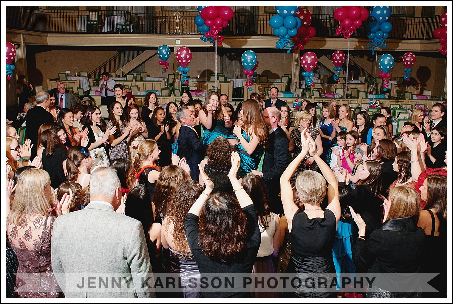 The Horah dance at The Twentieth Century Club Pittsburgh Bat Mitzvah Photography