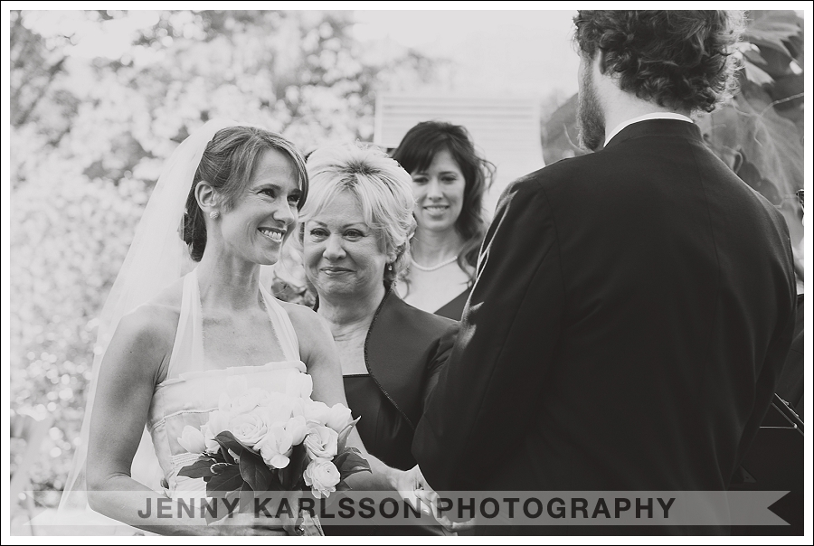 Handing over the bride at the Phipps Conservatory and Botanical Garden wedding ceremony