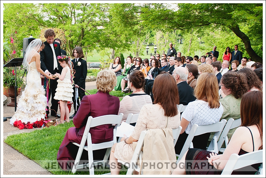 Ceremony in the outdoor garden at Phipps Conservatory and Botanical Garden