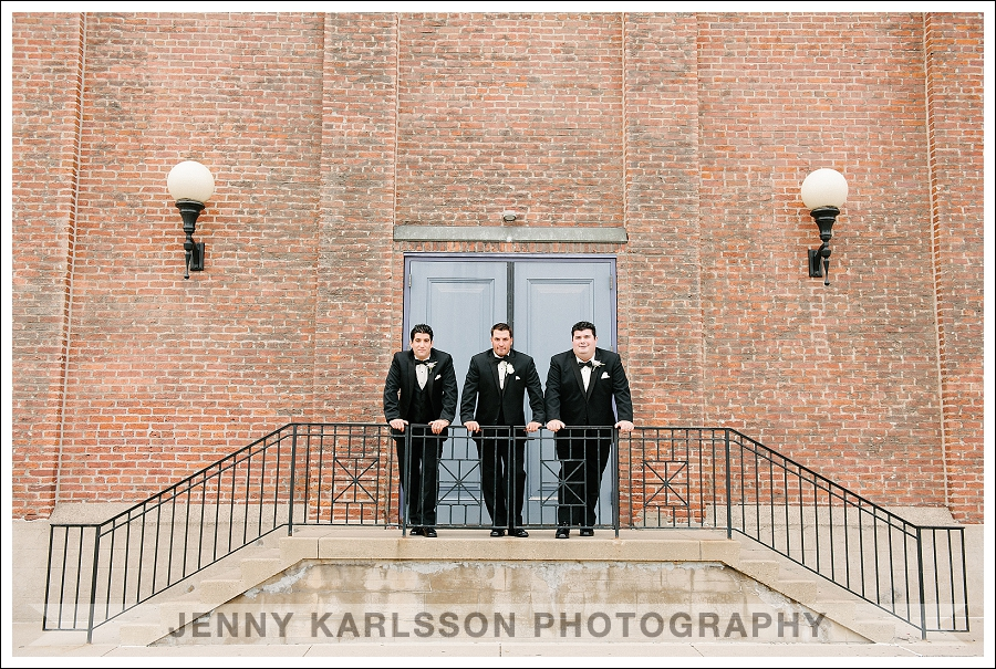 Groom and Groomsmen at the Priory Hotel