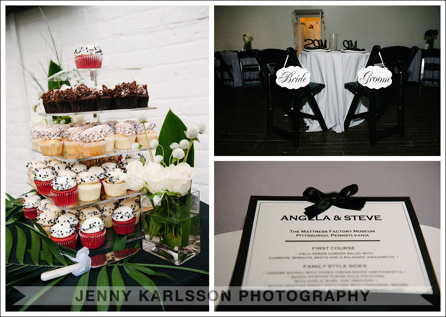 Mattress Factory Wedding Reception Details