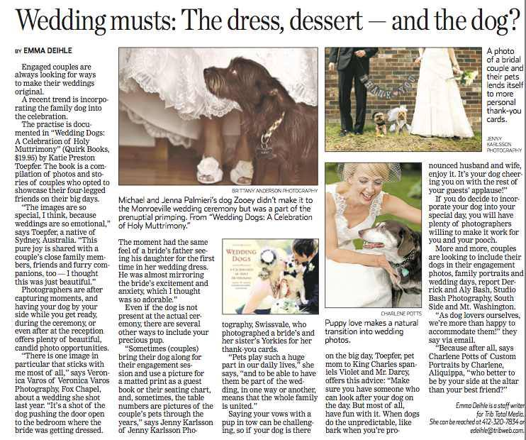 Jenny Karlsson Dogs and Weddings Pittsburgh Tribune Review