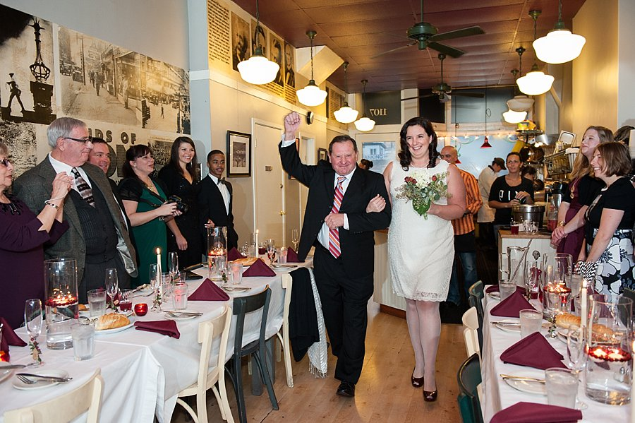 wedding ceremony at cafe du jour